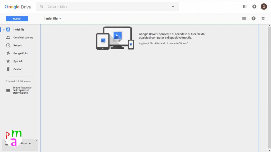 schermata google drive