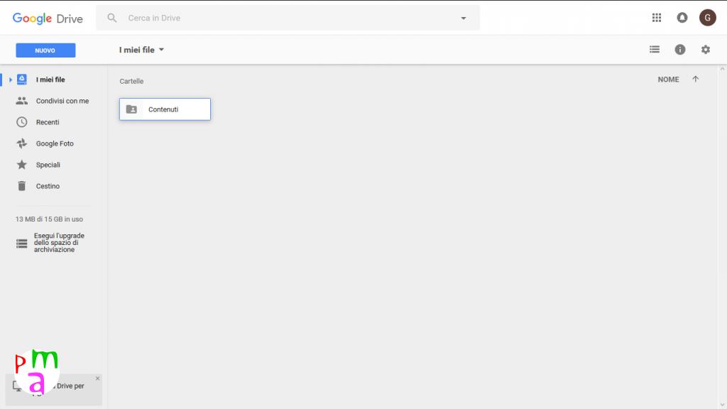 condivisione google drive